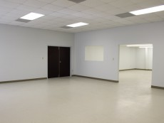 Warehouse space with large open office area