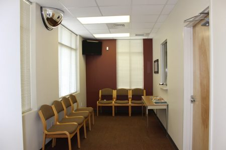 Office space reception area