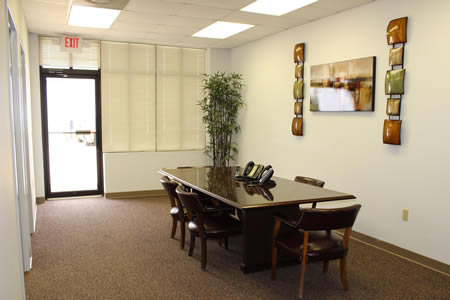 Open office area which can be used as reception, a conference room or a showroom