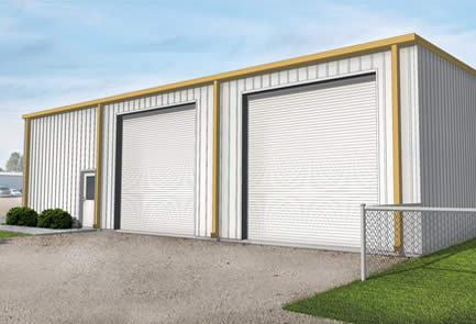 Front elevation for AAA build-to-suit warehouse building for lease